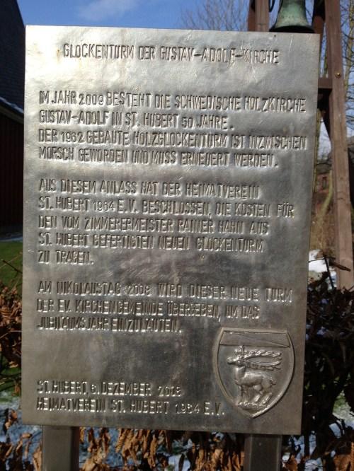 Gustav-Adolf Kirche Bell Plaque