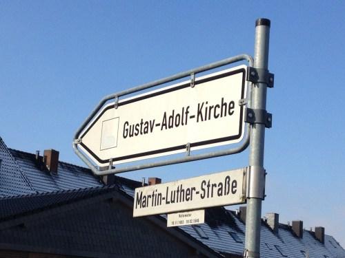 Gustav-Adolf Kirche Sign
