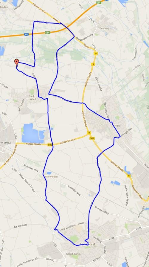 Track to Sankt Toenis