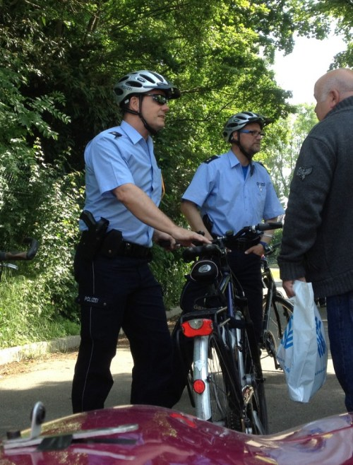 Two of our police escorts