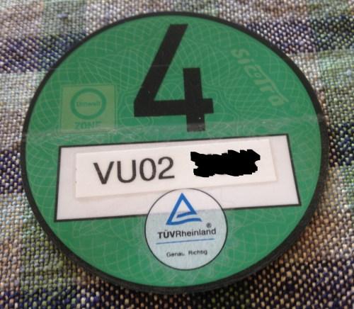 Car green sticker