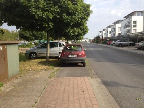 Parking on bike lane