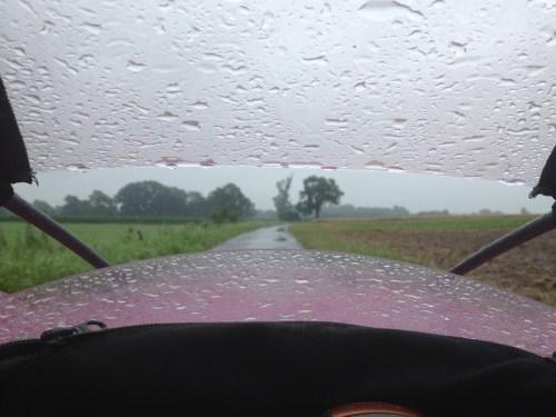 Rainy ride on Penelope