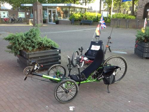 Trikes at tea stop