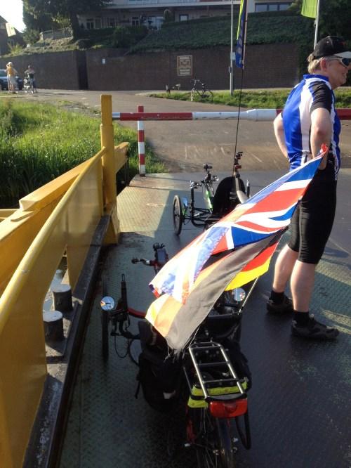 Trikes on Maas Ferry