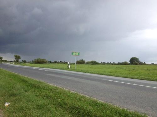 Threatening rain