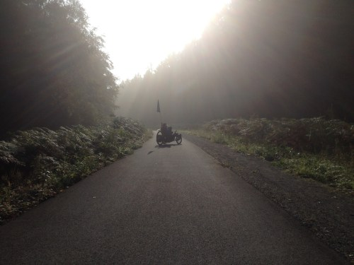 Trike in morning mist