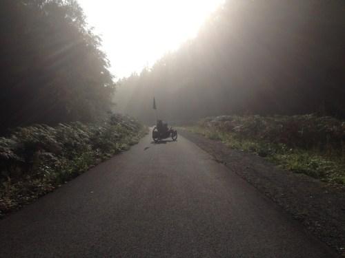 Trike in morning mist