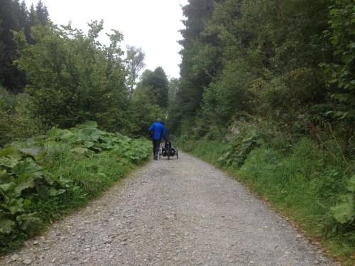Uphill out of Monschau