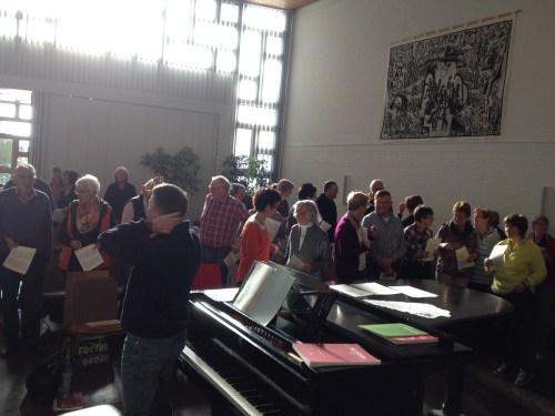 Choir practising