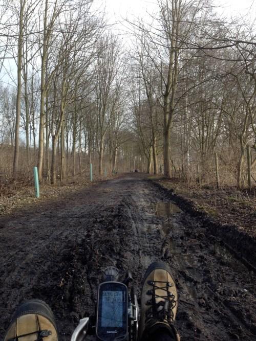Muddy trike ride