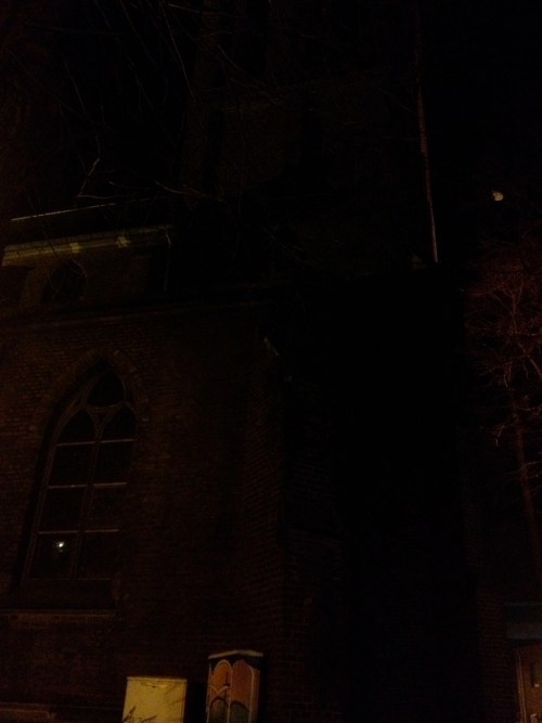 Very dark church in Schiefbahn