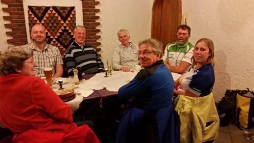 Clockwise from top left: Jochen, new chap, Uli, Hartmut, me, Klaus, new lady