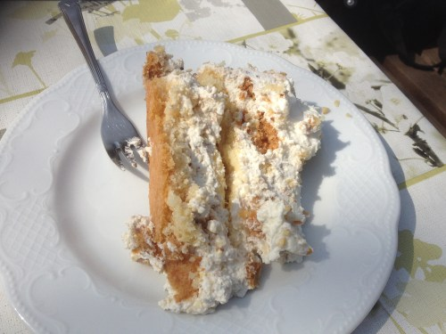 my Half of Sahne Nuss Kuchen