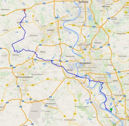 Hitdorf to Kempen