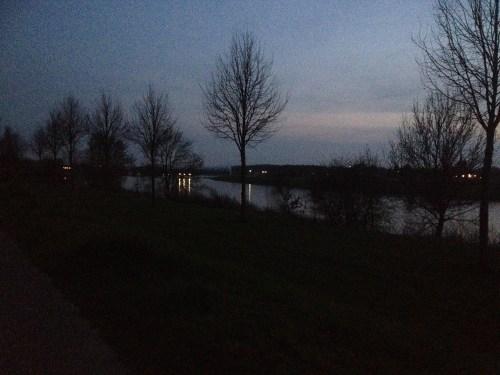 Maas at sunset