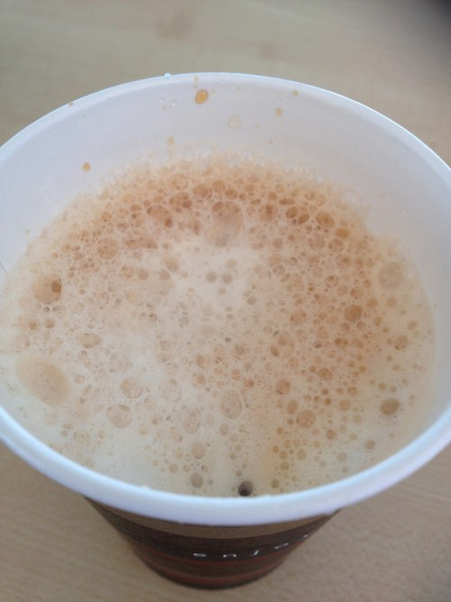 Foamy tea