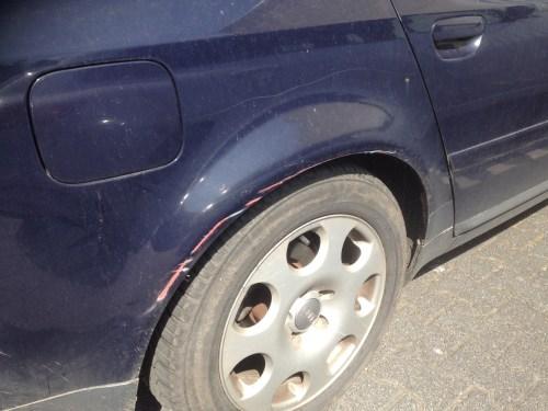 Scratched Car
