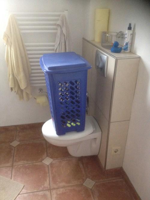 Toilette gesperrt