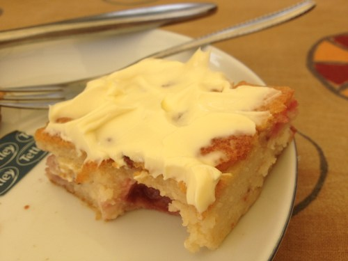 Cake and clotted cream