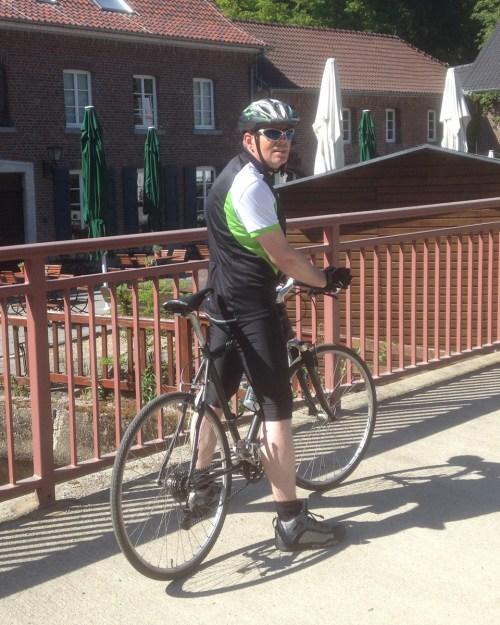 Klaus on Stevens Bike 1