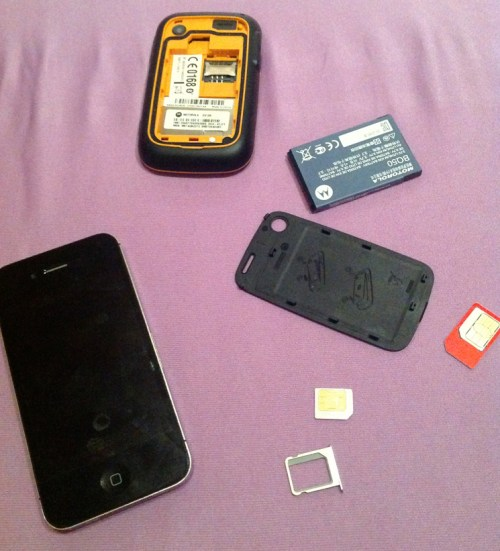 Phone SIM swap