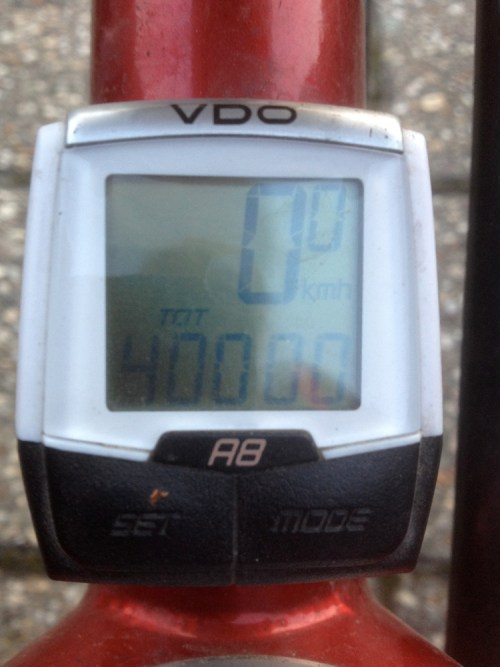 Alfie does 40,000km