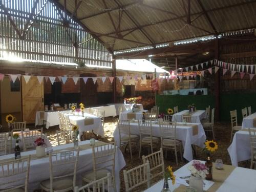 Wedding seating area