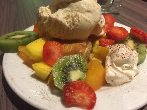 Baklava with persimmon