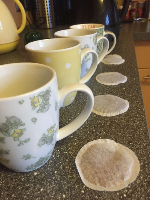 Cups of tea at the ready