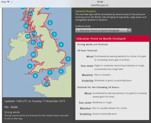 Gale forecast