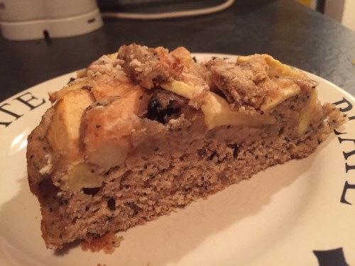 Poppy seed apple cake