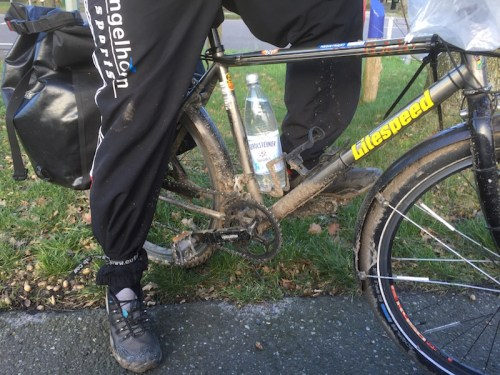 Hartmut's muddy bike