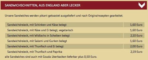 Aus England Aber Lecker