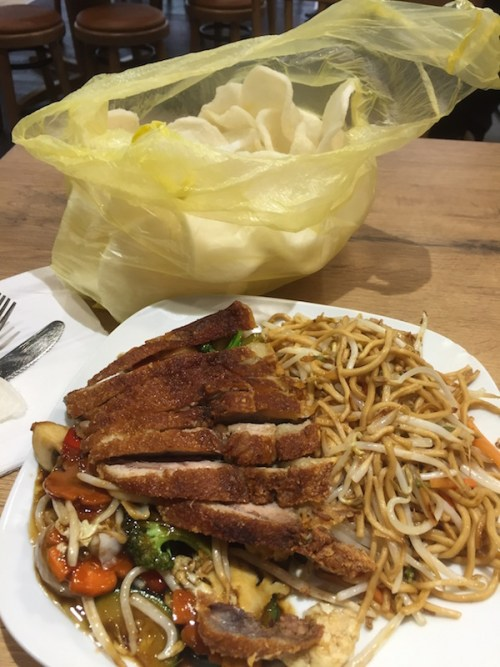 Duck and noodles