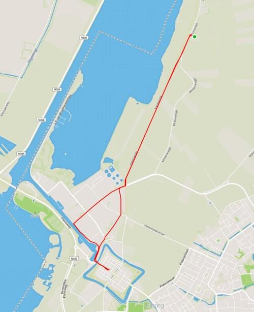 Elburg to restaurant track