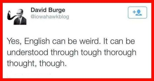 English can be weird