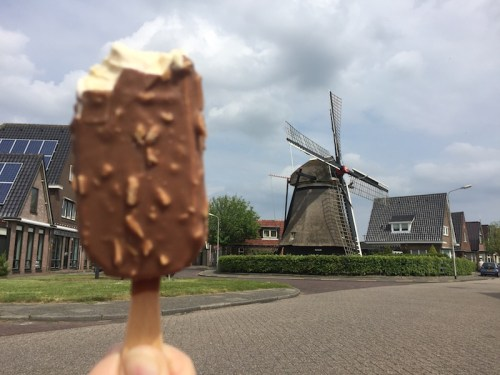 Magnum and windmill