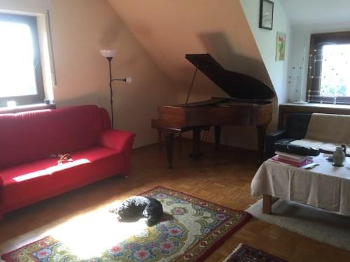 Piano rotated round