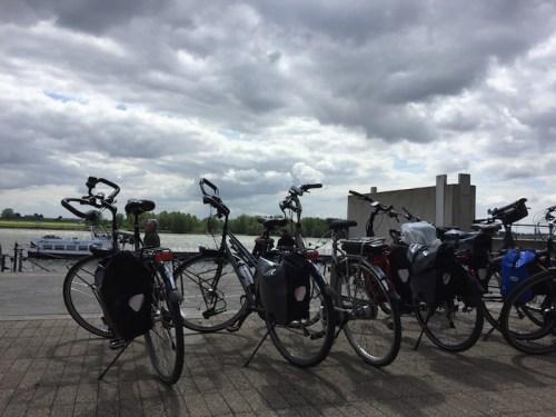 Rhein and bikes