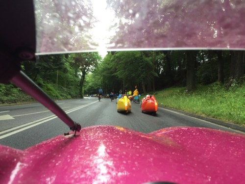 Ride through P's windscreen