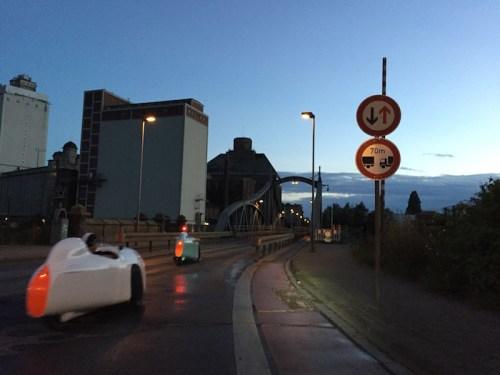 Crossing bridge in Krefeld