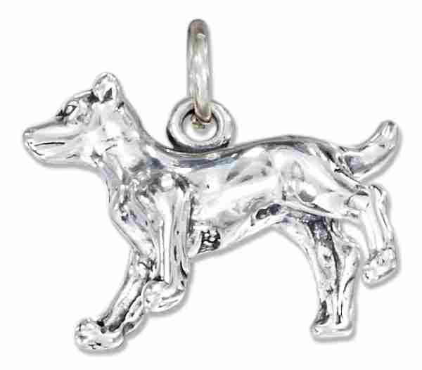 Sterling Silver 3d Jack Russell Terrier Dog Breed Charm