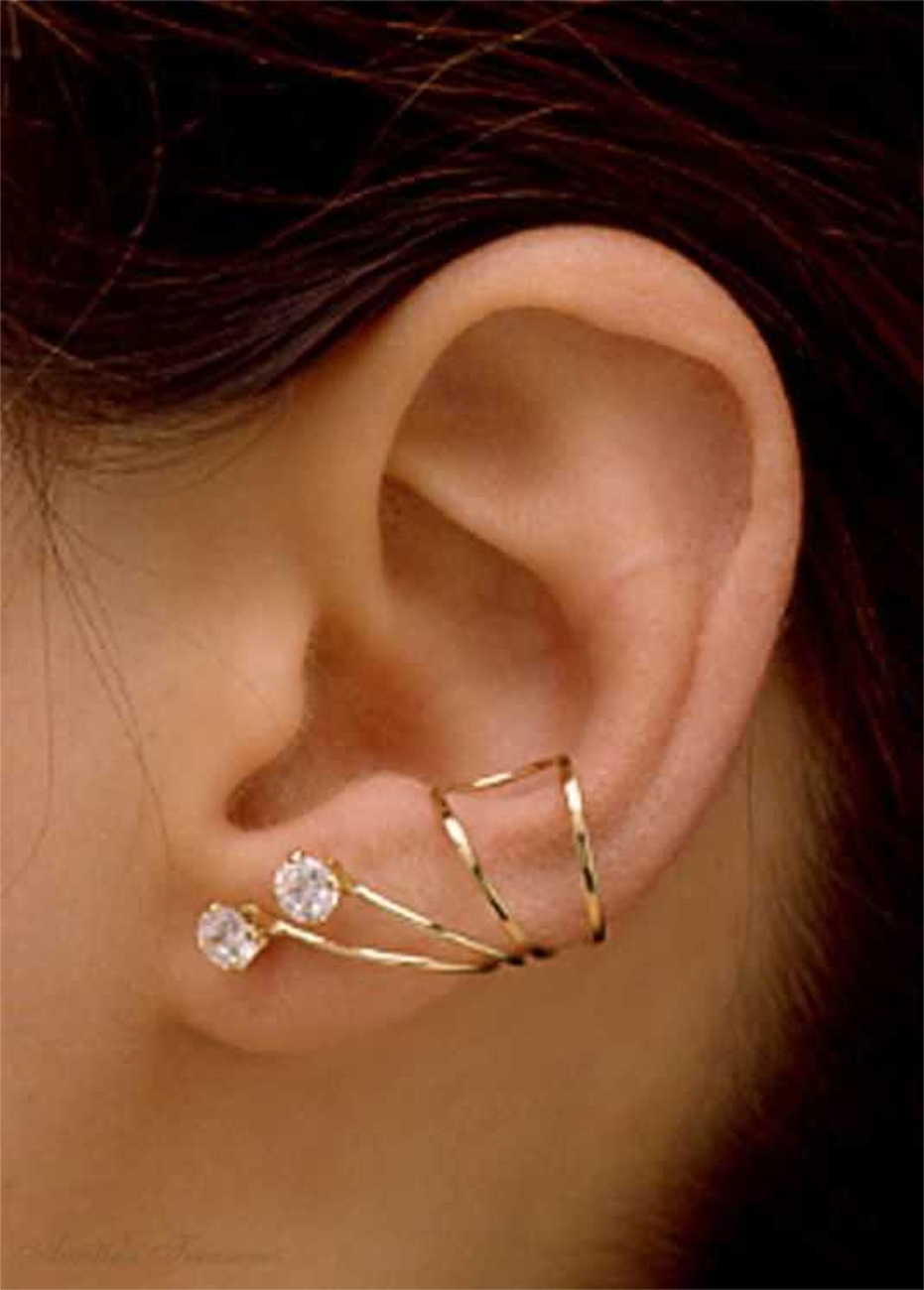 Sterling Silver Pierceless Right Only Ear Cuff Wrap