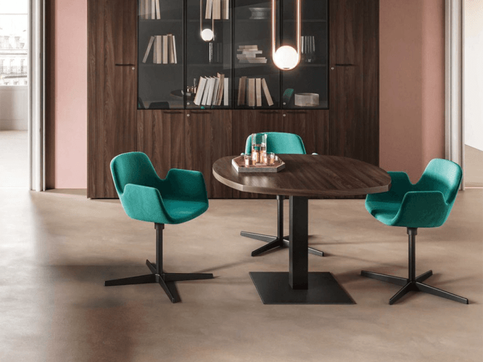 Ariel – Woodside Meeting Table with Square Leg Base