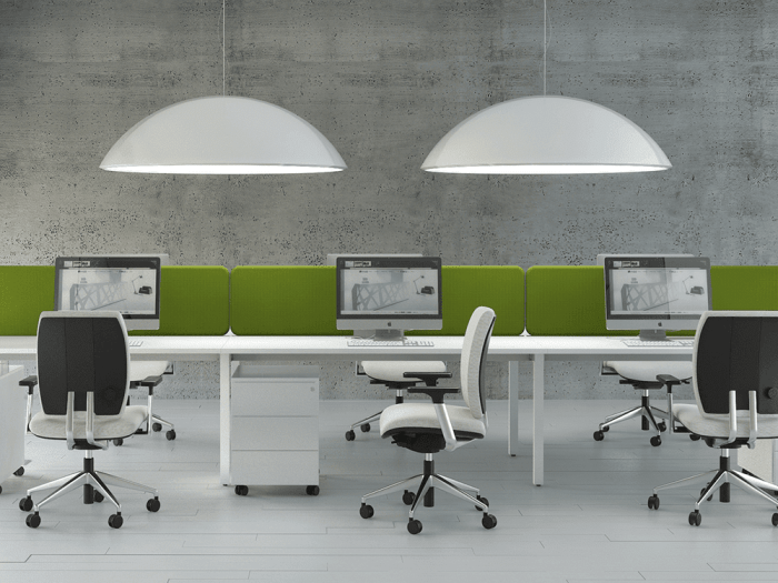Perry – Straight Office Desk with White Legs -