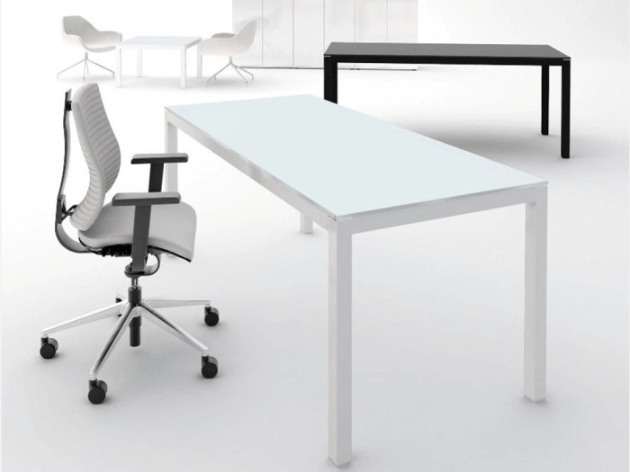 Halo – Frosted Glass Top Executive Desk