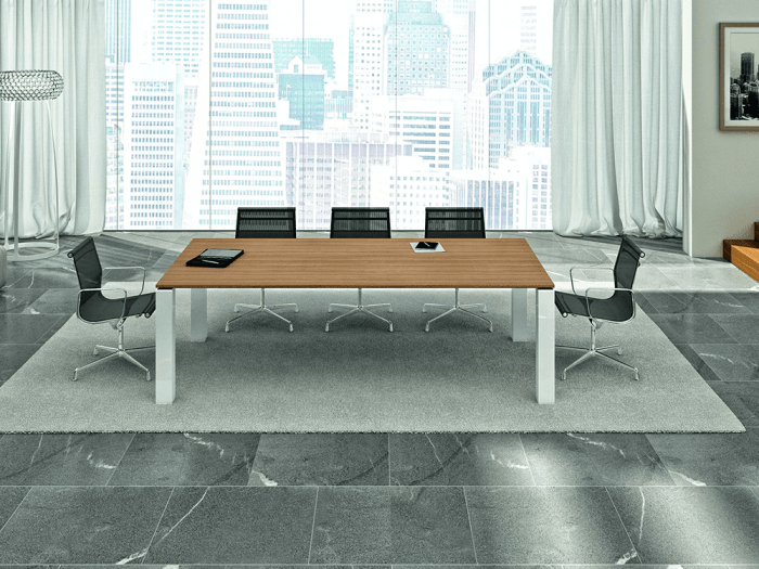 Polar – Square Meeting Table with White Legs