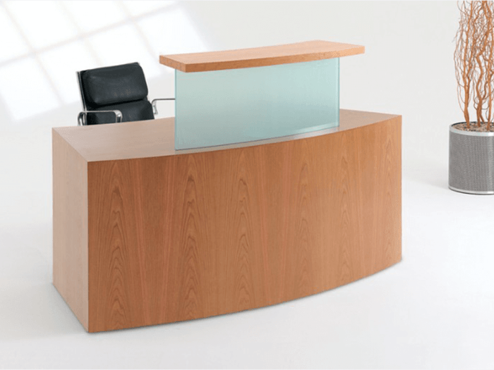 Aida 2 – Reception Desk in Westminster Oak