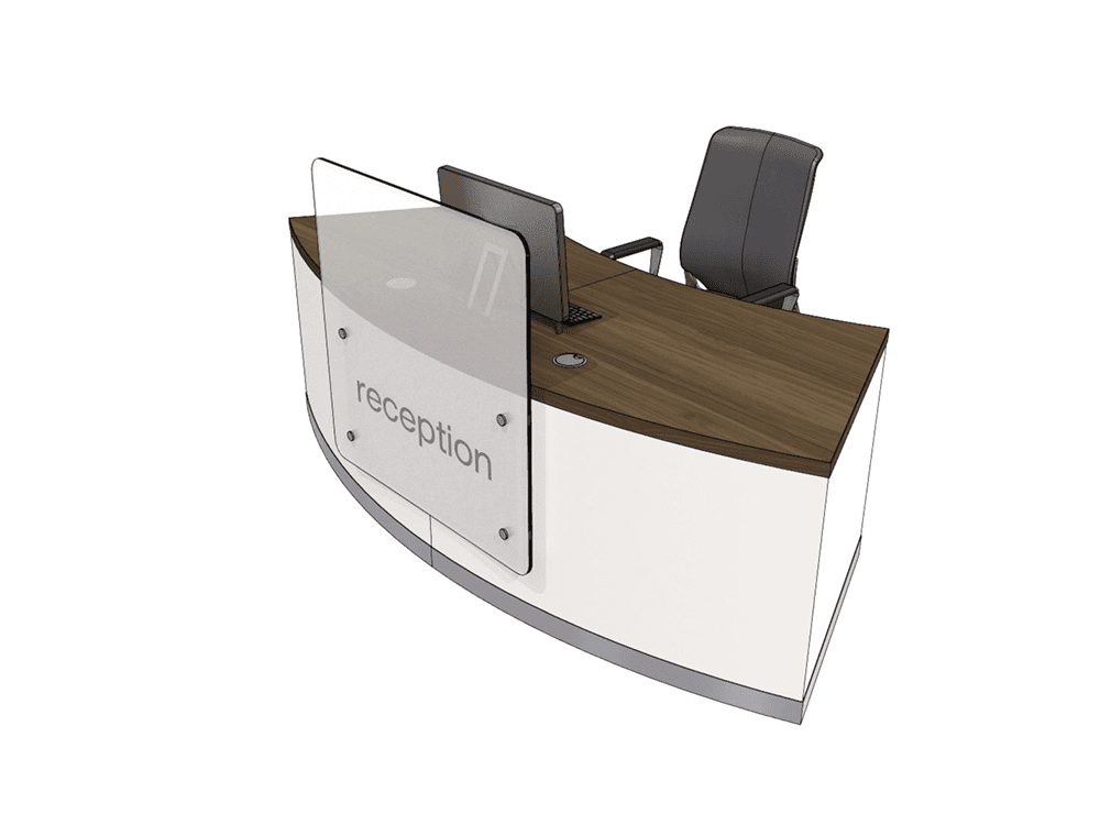 Wiley 2 – Reception Desk with Upstand in Multiple Colours